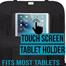 Tablet Holder Touch Screen Open for Plugs; fits ipad, samsung galaxy, amazon fire kindle