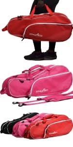 Athletico 6 Racquet Bag; Shoulder Strap; Backpack Straps Removeable