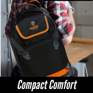 Rugged Tools Trademan Tool Backpack Compact Fit - All-day comfort