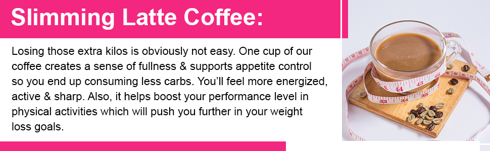 One cup of our coffee creates a sense of fullness.