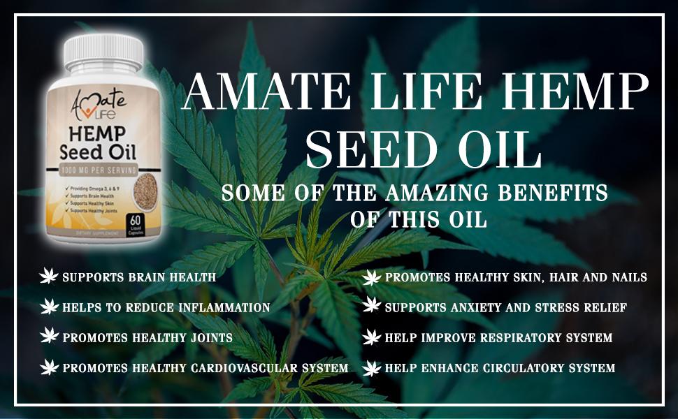 Amate Life Hemp Seed Oil