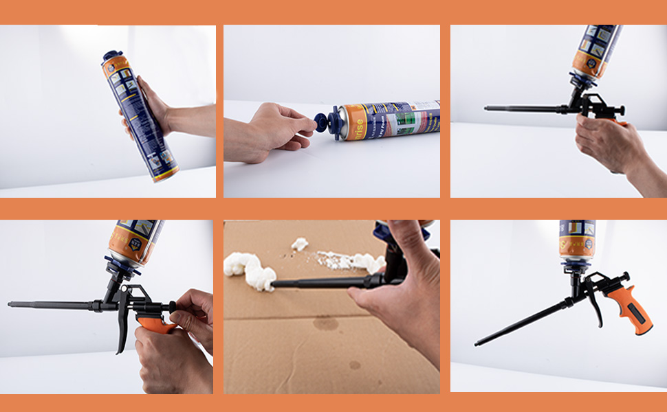 Amazon.com: Pistola de espuma, extensible, dispensador de ...