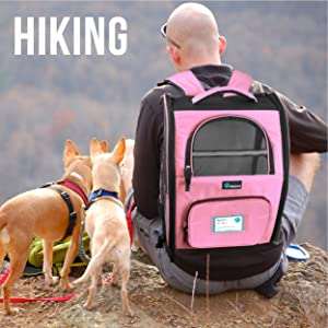 Pet bag backpack for hiking outdoors road trips camping