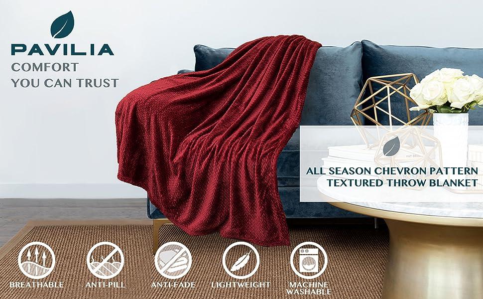 Throw blanket chevron texture design textured accent blanket