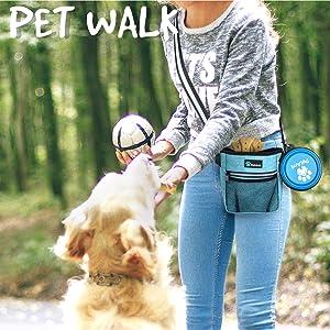 poop bag dispenser dog bag for kibble treats toys