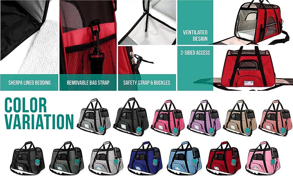 pet bag measurements and color variations buckle support anti-escape rabbit small pet bird