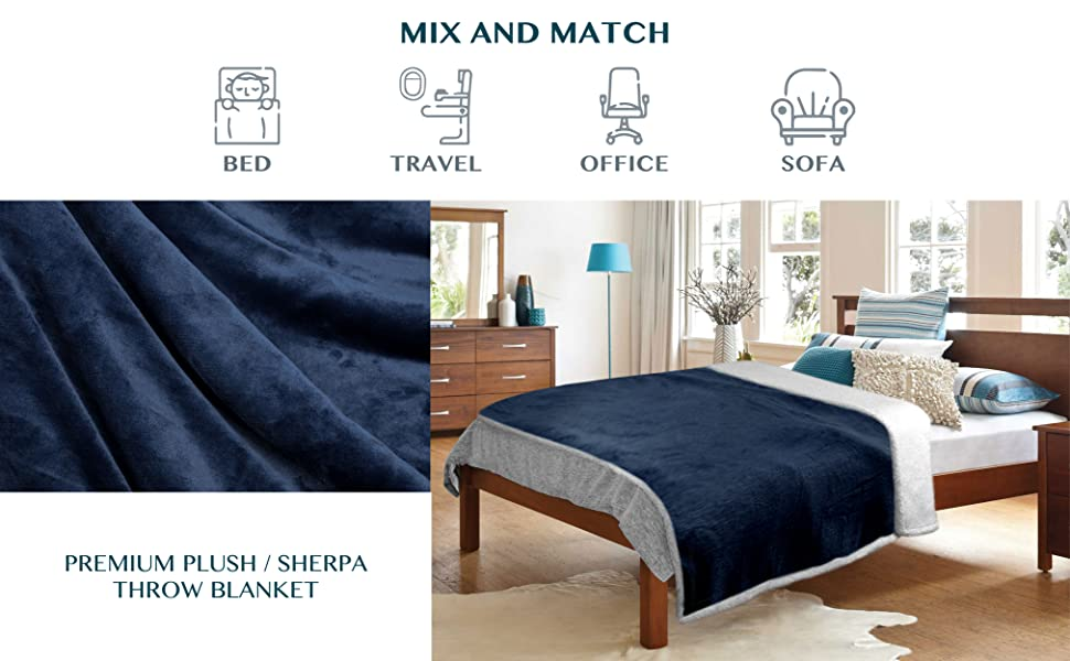 sherpa throw blanket twin bed sofa couch lightweight microfiber fleece soft comfy warm reversible