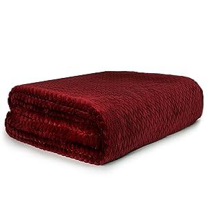 solid throw blanket with chevron leaf design lightweight soft warm cozy throw all season use