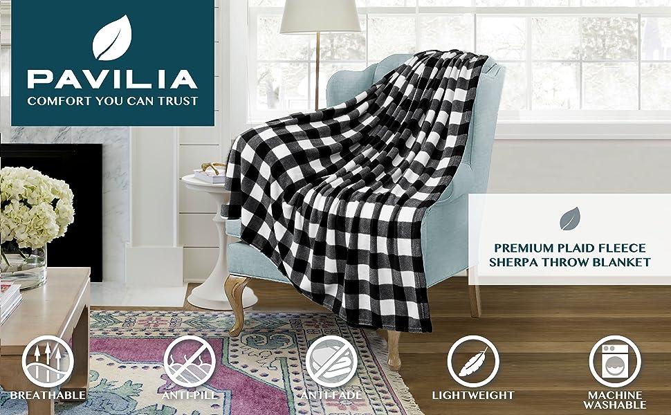 Throw blanket Checker Plaid design  accent blanket