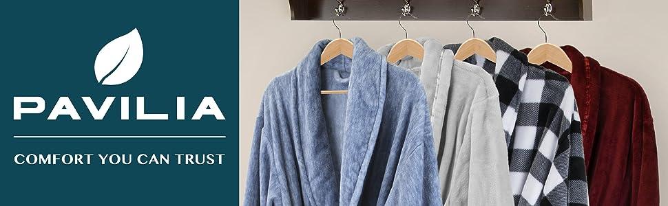 Pavilia Men's Spa bathrobe pajama robe
