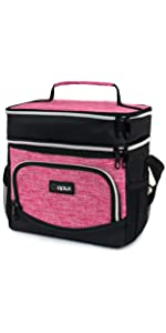 Dual Compartment Expandable Lunch Bag