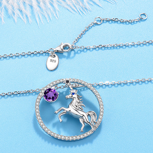 february birthstone natural amethyst necklace