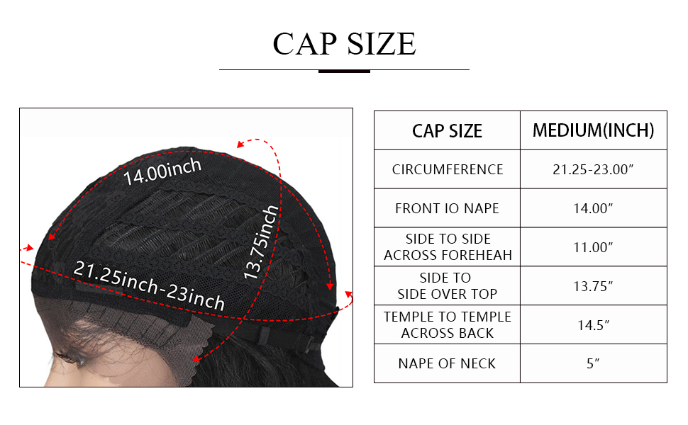 this is the size for cap