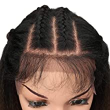 yaki straight free parting lace frontal wigs