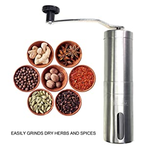 Kitchen,dining & Bar Loyal Handmade Handy Spice Coffee Bean Pepper Grinder Stainless Steel Grinder With Ceramic Core Coffee Maker
