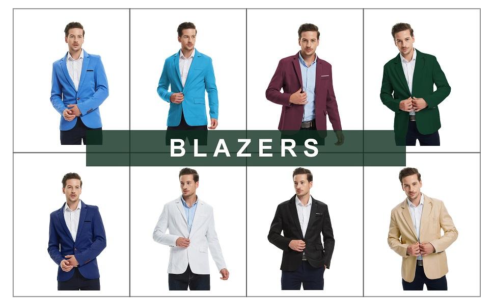 6897ee132520 Pishon Men s Blazer Jacket Lightweight Casual Slim Fit One Button ...