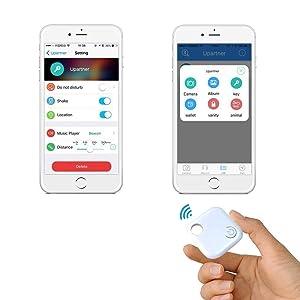 Ivishow Smart Key Finder Anti-Lost Tag, Phone Finder with Bluetooth Remote  Control, Mini GPS Locator Tracking Device [0-30M Anti-Theft Burglar Alarms