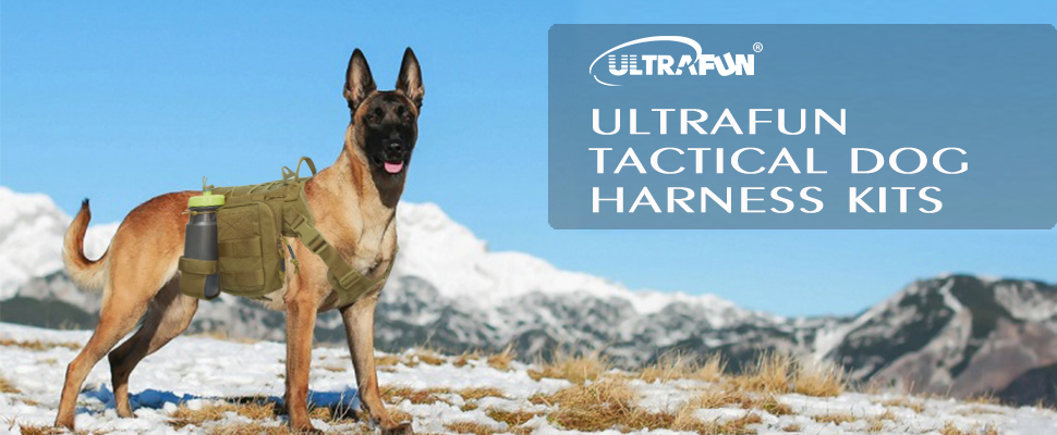fTygddLvRAKS._UX970_TTW__ amazon com ultrafun tactical dog harness with patches pouches