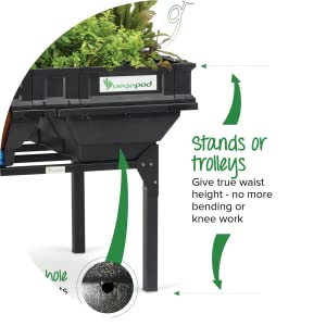Vegepod Stand and Trolley - Elevate Garden Beds to Waist Height