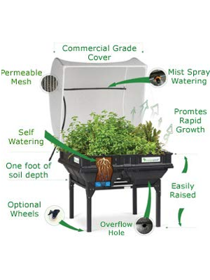 Vegepod, Raised Garden Bed Kit, Vegetables, Container Garden, Elevated Garden, Cover
