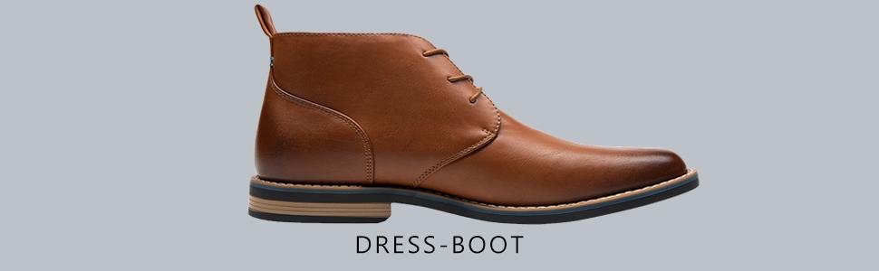 82834b4ceaaca SHENBO JOUSEN Men's Dress Boots Simple Style Ankle Chukka Boot ...