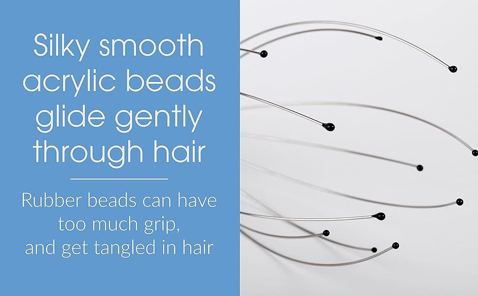 Scalp Massager Close Up, Scalp Massager Beads, Scalp massager, Head scratcher