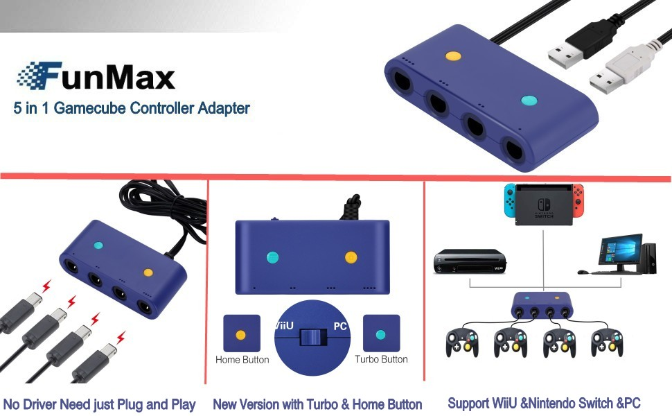 GameCube adapter for nintendo switch