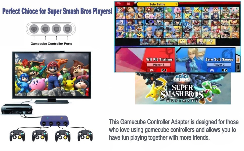 game adapter for super smash bros