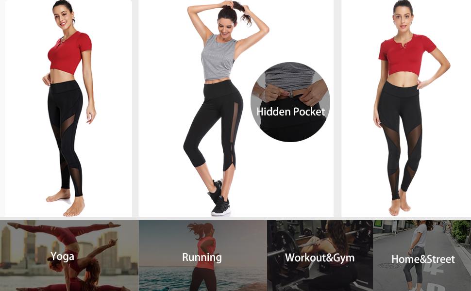 Amazon.com: TELALEO Pantalones de yoga para mujer, de talle ...
