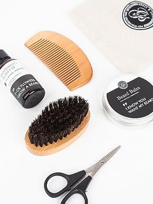 beard balm oil kit mustache mens men product kit