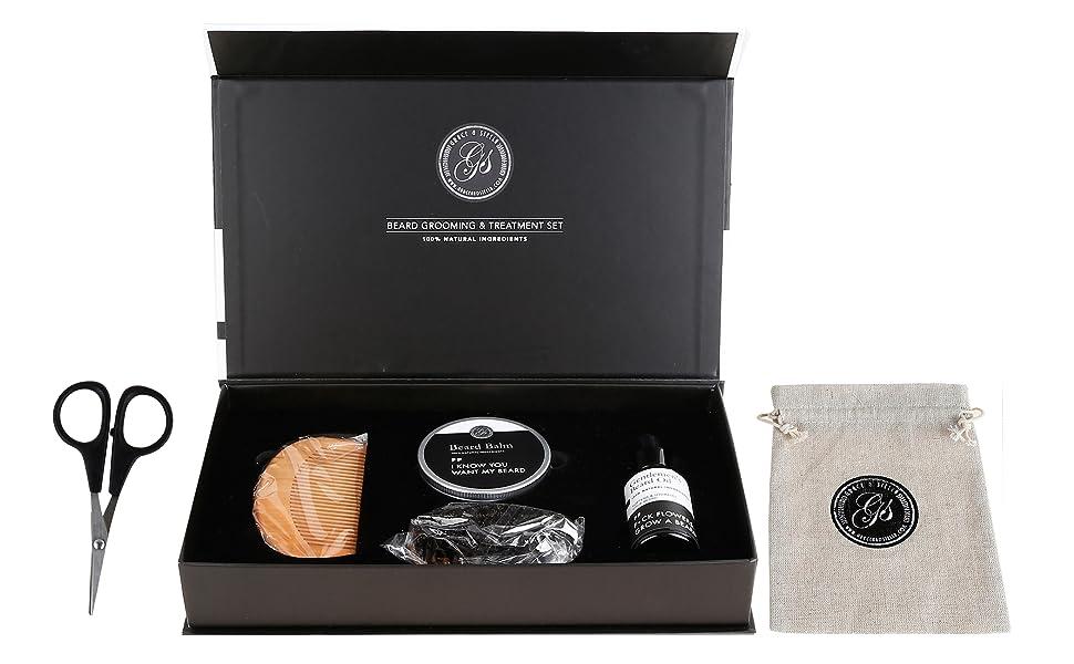 grace and stella mustache beard kit set gift value balm oil scissors