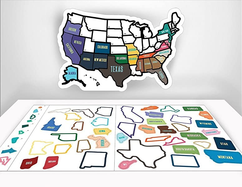 Amazoncom RV State Sticker Travel Map X USA States - Us road map wall decals