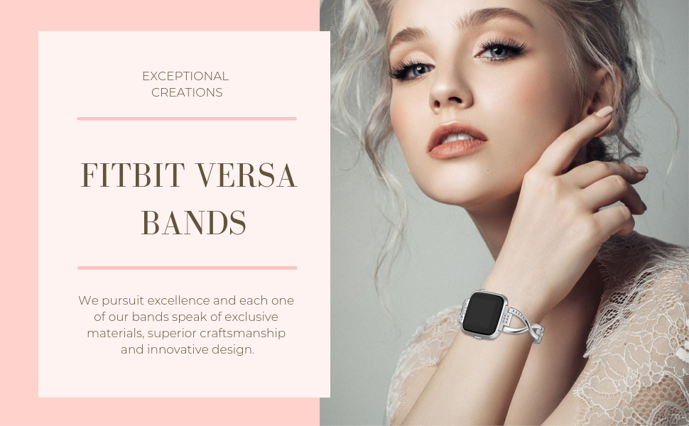 Bling Bracelet Compatible with Fitbit Versa Bands for Women
