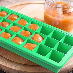 Amazon Com Vremi Silicone Ice Cube Trays With Plastic