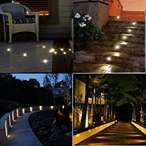 Amazon led deck light kit low voltage 30 pcs waterproof ip65 multifunction led recessed deck floor lights aloadofball Gallery