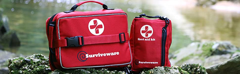 Surviveware Large and Small First Aid Kit