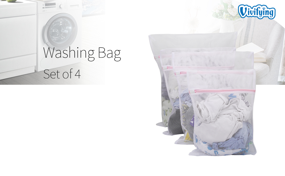 Amazon.com: Vivifying Bolsa de lavado grande, juego de 4 ...