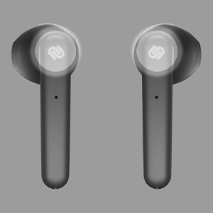 black, earphones, earbuds, gray, background, urbanista, logo, touch, both, white, lights, calls