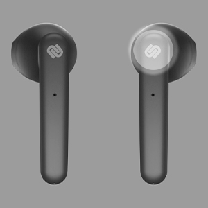 black, earphones, earbuds, gray, background, urbanista, logo, touch, white, light, voice, assistance