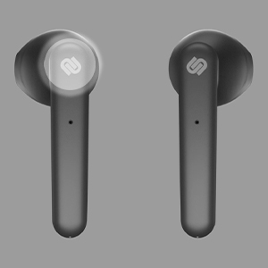 black, earphones, earbuds, gray, background, urbanista, logo, touch, white, light, left, music