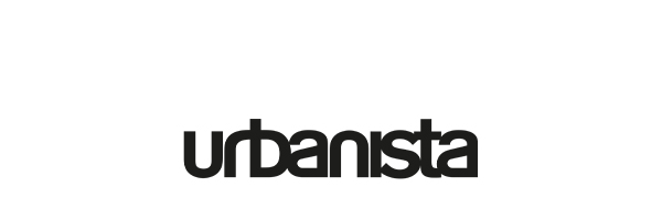 urbanista, black, logo, letters, text, white, background, header