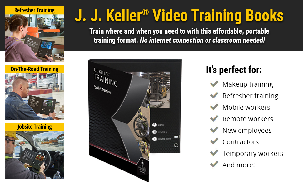 Video Training Books train where/when you need to with portable training format. No internet needed!
