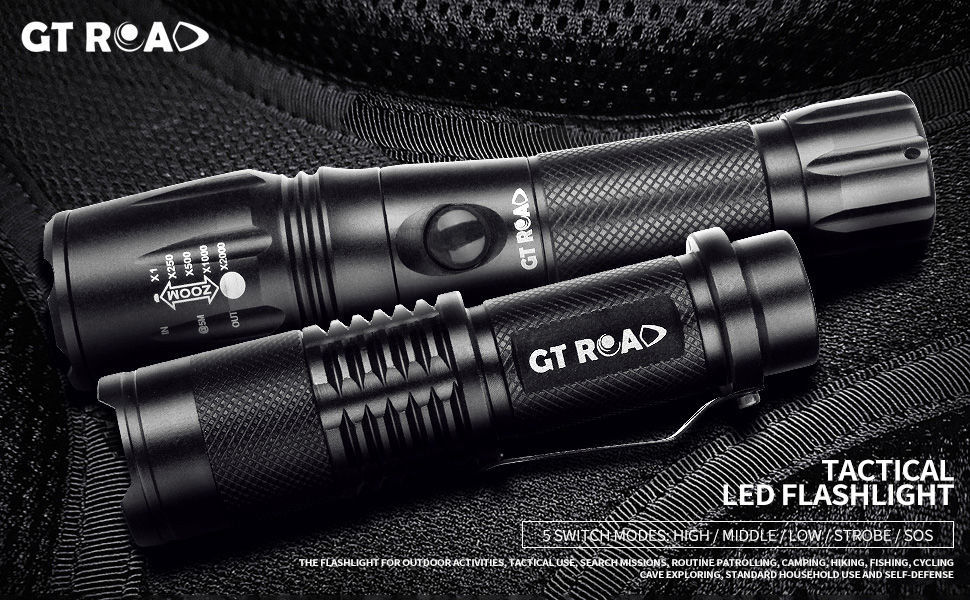 Tactical Led Flashlight, GT ROAD Handheld Bright Led Torch ...