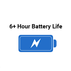 6 hour battery life rechargeable