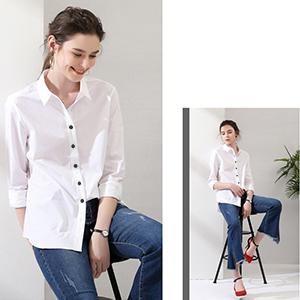 486d1ec593 FLY HAWK Women s Casual Button Down Dress Shirts