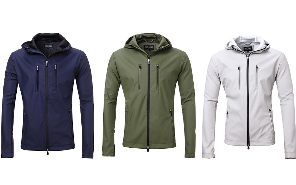 Amazon.com: Men's Lightweight Rain Jacket Soft Shell Waterproof ...