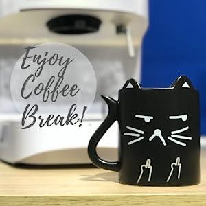 Amazon.com: Taza de café divertida con frase en inglés