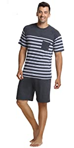 Men's Summer Striped Pajamas Set