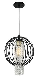 LaLuLa Chandeliers Orb Chandelier Lighting Black Pendant Light Globe Light Fixtures 1 Light