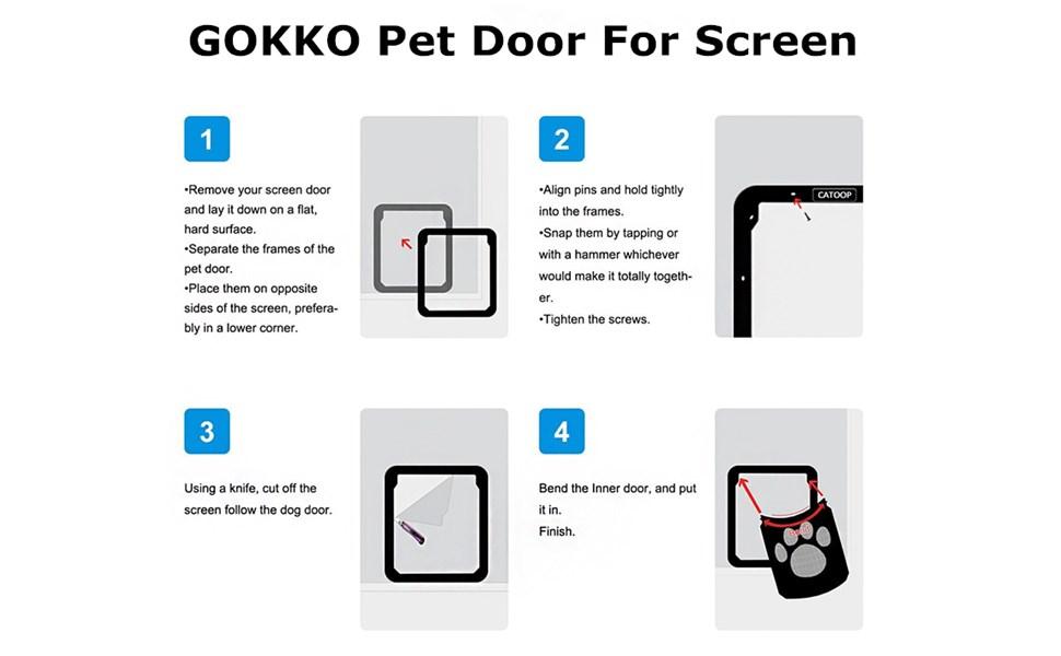 Amazon Gokko Pet Screen Door Pet Dog Door Screen Door Pet Cat